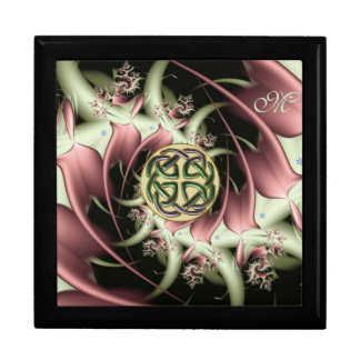 Peach Bronze Fractal and Celtic Knot Gift Box