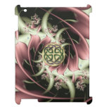 Peach Bronze Fractal and Celtic Knot iPad Case