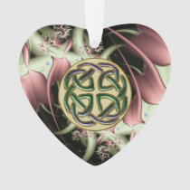 Peach Bronze Fractal and Celtic Knot