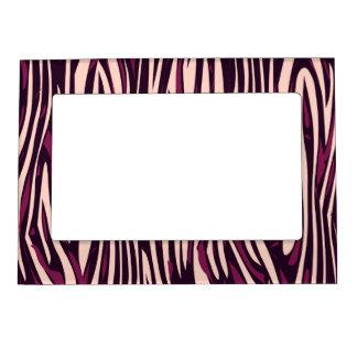 Peach Burgundy Zebra Abstract Magnetic Frame