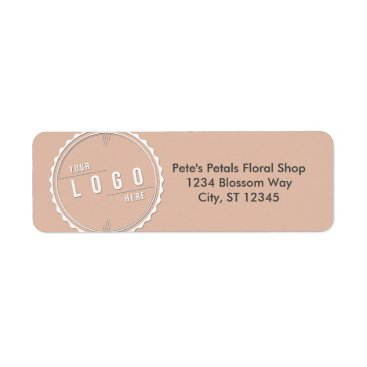 Professional Business Peach Business Logo Address Labels