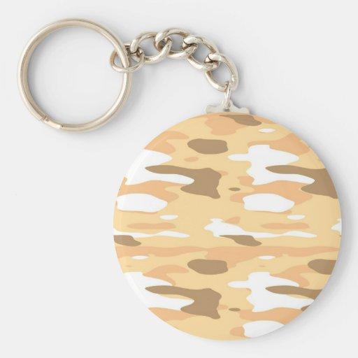 Peach Camo Key Chain
