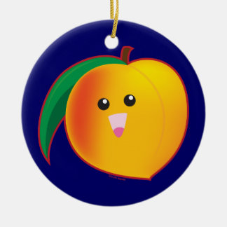 Peach Ceramic Ornament