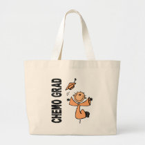 Peach CHEMO GRAD 1 (Endometrial Cancer) Large Tote Bag