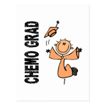 Peach CHEMO GRAD 1 (Endometrial Cancer) Postcard