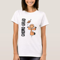 Peach CHEMO GRAD 1 (Uterine Cancer) T-Shirt