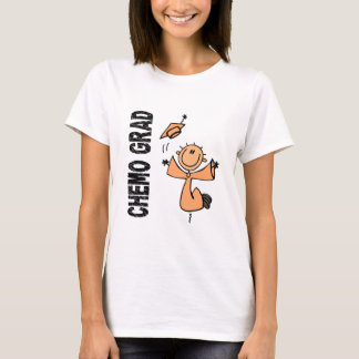 Peach CHEMO GRAD 1 (Uterine Cancer) T-Shirt