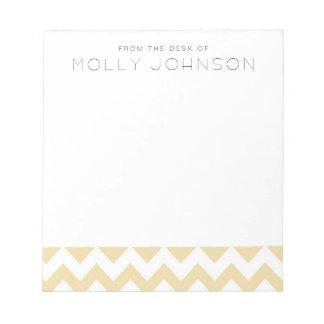 Peach Chevron Bridesmaid Gift Notepad