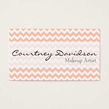 Professional Business Peach Chevron Business Cards