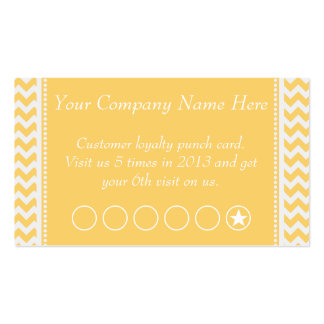 Peach Chevron Discount Promotional Punch Card Double-Sided Standard Business Cards (Pack Of 100)