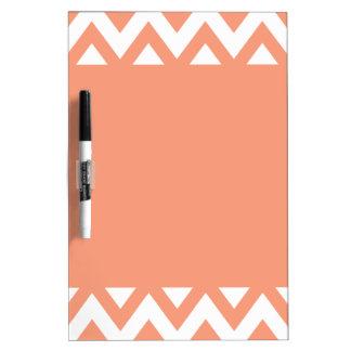 Peach Chevron Dry-Erase Board