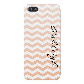 Peach Chevron iPhone SE/5/5s Cover