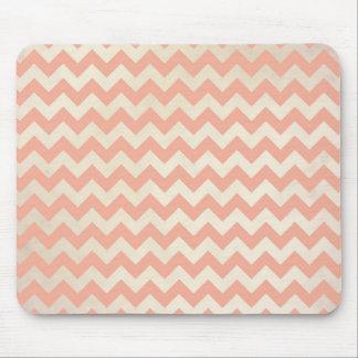 Peach Chevron Mouse Pad