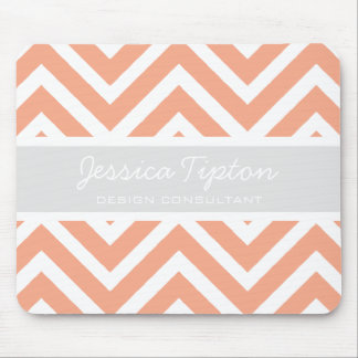 Peach Chevron Mousepad | TBM