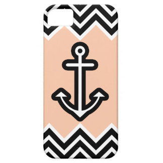 Peach Chevron Nautical iPhone SE/5/5s Case