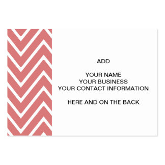 Peach Chevron Pattern 2 Large Business Cards (Pack Of 100)