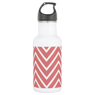 Peach Chevron Pattern 2 Stainless Steel Water Bottle
