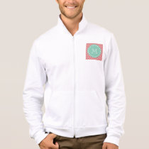 Peach Chevron Pattern | Mint Green Monogram Jacket