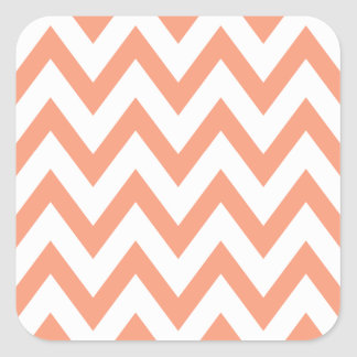 Peach Chevron Sticker