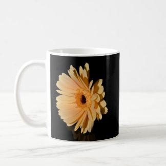 Peach chrysanthemum flower coffee mugs