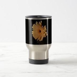 Peach chrysanthemum flower mug