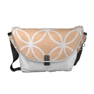 Peach Circular Pattern Messenger Bag