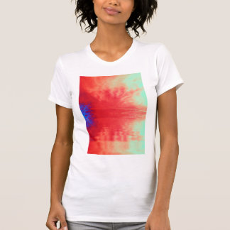 Peach Cirrus radiatus Clouds and Electric Indiglo T-Shirt
