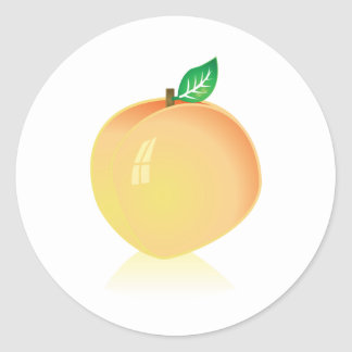 Peach Classic Round Sticker