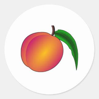 Peach Classic Round Sticker