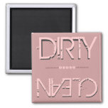 Peach Clean Dirty Dish Washer Magnet