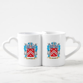 Peach Coat of Arms - Family Crest Lovers Mug Set
