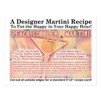 Peach Cobbler Martini Recipe Postcard