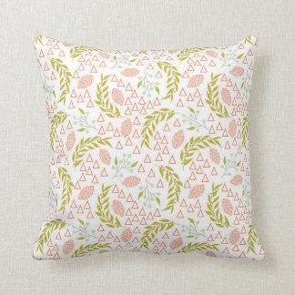 Peach Color Throw Pillow