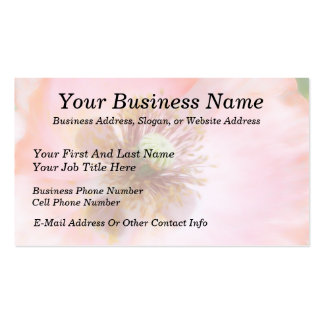 Peach Colored Annual Poppy Business Card Templates