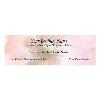 Peach Colored Annual Poppy Business Card Template