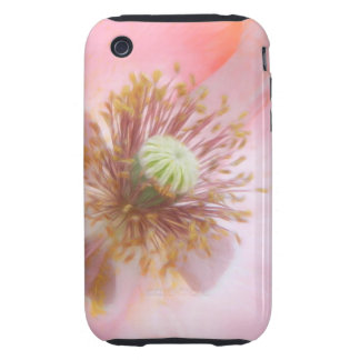 Peach Colored Annual Poppy iPhone 3 Tough Case