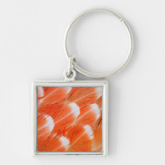 Peach Colored Cocatoo Feathers Keychain