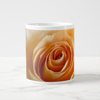 Peach colored rose flower giant coffee mug