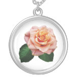 Peach-Colored Rose Necklace