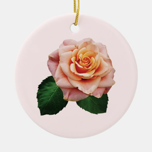 Peach-Colored Rose Ornament