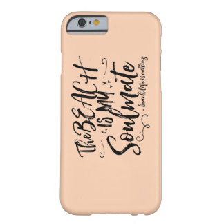 Peach Colored The Beach Is My Soulmate iPhone Case