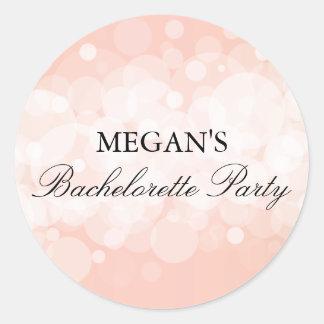 Peach Confetti Bachelorette Party Sticker