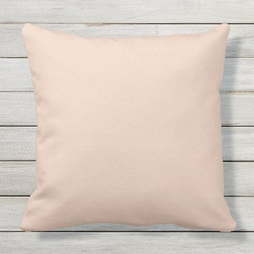 Beach Themed Peach Coral Outdoor 20X20 Outdoor Throw Pillow