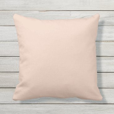 Beach Themed Peach Coral Outdoor Throw Pillow