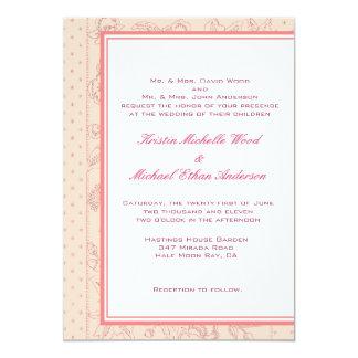 Peach/Coral Wedding Invitation