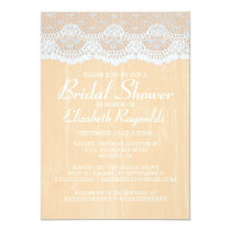 Peach Country Lace Bridal Shower Invitations