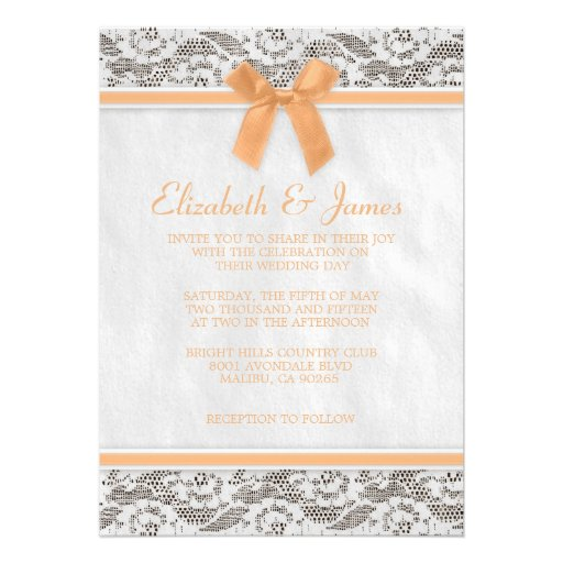 Peach Wedding Invitations could be nice ideas for your invitation template