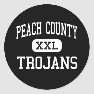 Peach County - Trojans - High - Fort Valley Classic Round Sticker