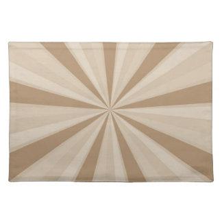 Peach Cream Sunburst Place Mat