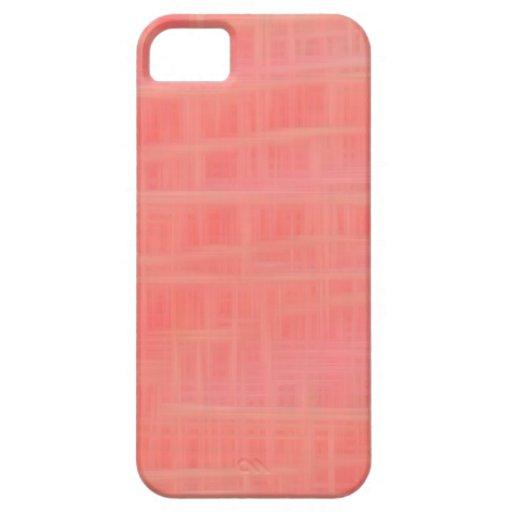 Peach criss cross iPhone 5 case
